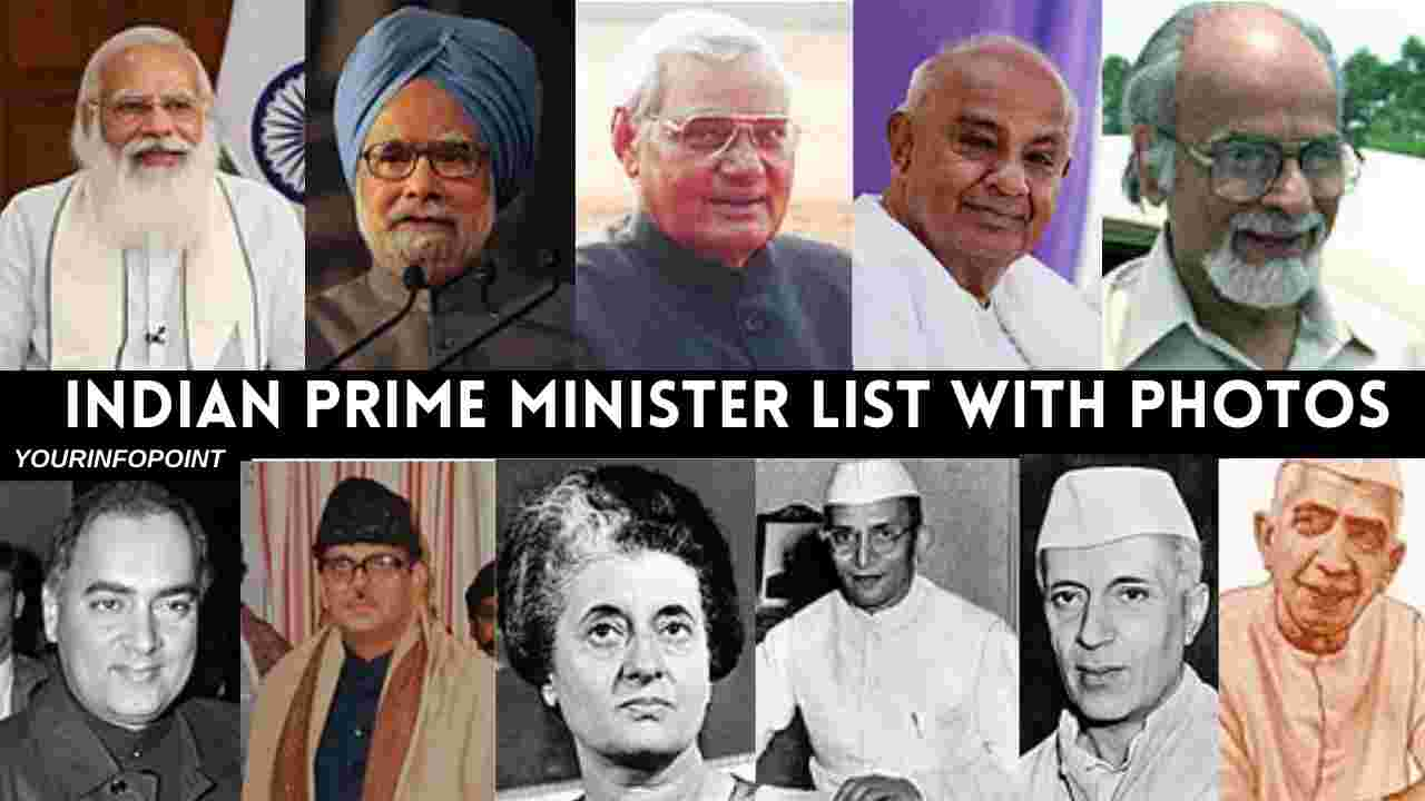 Indian prime minister list with photos